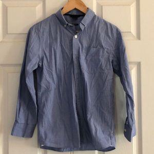 Gap Kids blue chambray button down shirt - XL